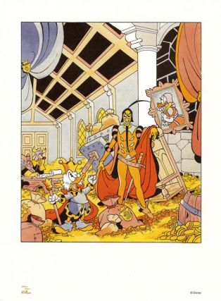 Doctor Paperus #2 Limited Edition Lithograph. (Uncle Scrooge and Mephistopheles). Art by Luciano...