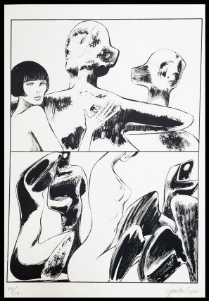 Valentina incontra Henry Moore Signed and Numbered Limited Edition Print #1. Guido Crepax.