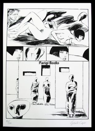Valentina incontra Henry Moore Signed and Numbered Limited Edition Print #7. Guido Crepax.
