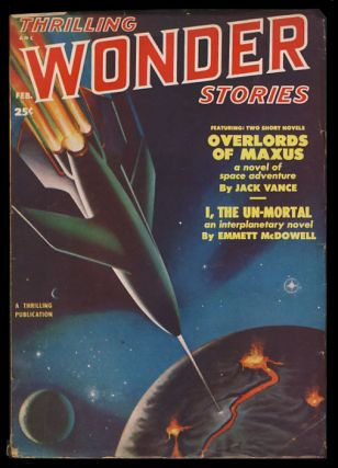 Overlords of Maxus in Thrilling Wonder Stories February 1951. Jack Vance