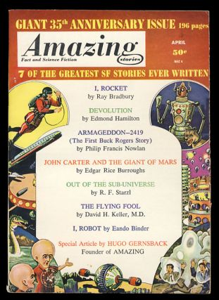 John Carter and the Giant of Mars in Amazing Stories April 1961. Edgar Rice Burroughs