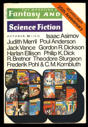 The Magazine of Fantasy & Science Fiction October 1974. Edward L. Ferman, ed