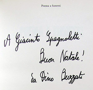 Poema a fumetti. (Signed Presentation Copy).
