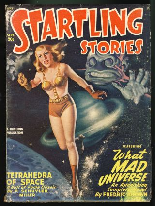 What Mad Universe in Startling Stories September 1948. Fredric Brown