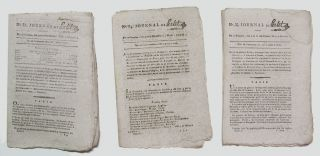 An Interesting Small Archive of French Revolutionary Era Newspapers.