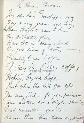 Five Books of Song. (With Handwritten Poem by the Author).