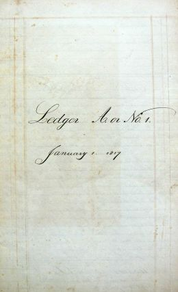 Handwritten 1817 Ledger from L. S. Walkley from Haddam, CT.