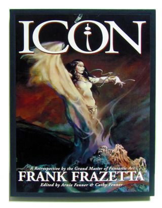 Icon: A Retrospective by the Grand Master of Fantastic Art Frank Frazetta. Deluxe Lettered Edition in Slipcase.