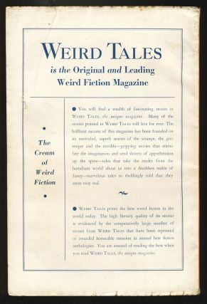 The Six Sleepers in Weird Tales October 1935.