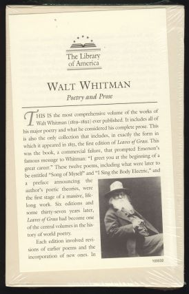 Poetry and Prose. Walt Whitman