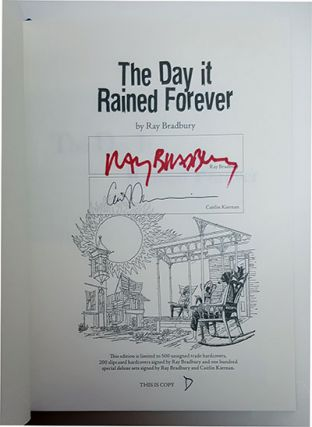 Special Slipcased Lettered Deluxe Set Including The Day It Rained Forever and Medicine for Melancholy.