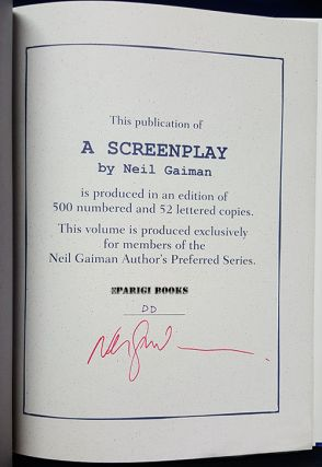 A Screenplay. (Based on Good Omens). (Signed Lettered Edition).