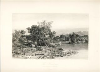 The Housatonic. Steel Engraving from a Painting by A. F. Bellows. A. F. Bellows, S. V. Hunt