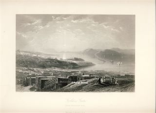 Golden Gate (From Telegraph Hill). Steel Engraving from a Painting by J. D. Smillie. J. D....