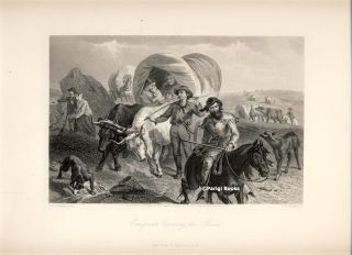 Emigrants Crossing the Plains. Steel Engraving from a Painting by F. O. C. Darley. F. O. C. Darley, H. B. Hall.