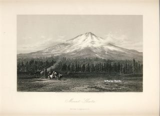 Mount Shasta. Steel Engraving from a Painting by J. D. Smillie. J. D. Smillie, E. F. Brandard