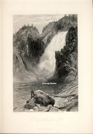 The Upper Yellowstone Falls. Steel Engraving from a Painting by Thomas Moran. Thomas Moran, S. V....