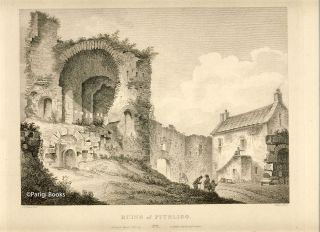 Ruins of Pitsligo. Etching from a Drawing by John Claude Nattes. James Fittler