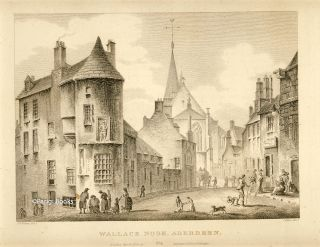 Wallace Nook, Aberdeen. Etching from a Drawing by John Claude Nattes. James Fittler