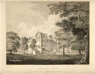 Tarnaway Castle. Etching from a Drawing by John Claude Nattes. James Fittler