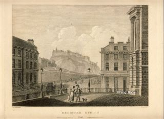 View from the Register Office (Edinburgh). Etching from a Drawing by John Claude Nattes. James...