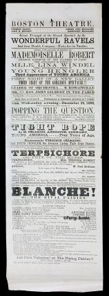 Broadside for the Boston Theatre, December 1856. Great Triumph of the Grand Spectacle by the...