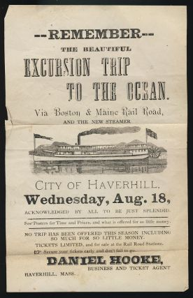 Remember the Beautiful Excursion Trip to the Ocean. Via Boston & Maine Rail Road, and the New...