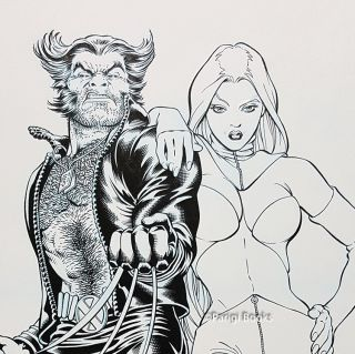 Wolverine and the White Queen Original Cover Art.