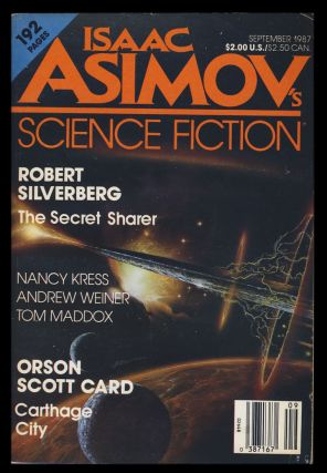 Carthage City in Isaac Asimov's Science Fiction Magazine September 1987. Orson Scott Card