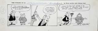Brant Parker Johnny Hart The Wizard of Id Comic Strip Original Art Dated 2-2-1974. Brant Parker,...