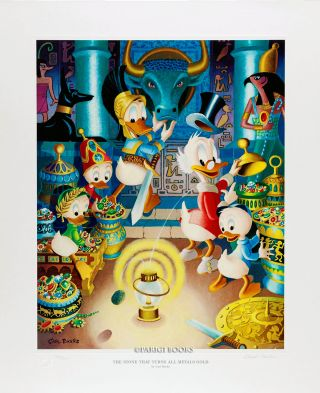 The Stone that Turns All Metals Gold Signed Limited Edition Lithograph. Carl Barks