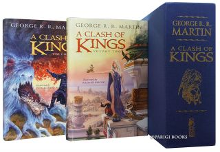 A Song of Ice and Fire Complete Set. (A Game of Thrones. A Clash of Kings. A Storm of Swords. A Feast for Crows. A Dance with Dragons. A Knight of the Seven Kingdoms. All Signed Limited Editions with Matching Numbers).