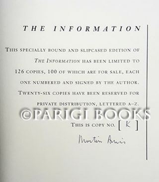 The Information. (Signed Lettered Edition).