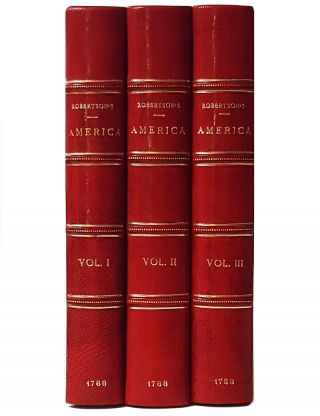 The History of America. In Three Volumes. William Robertson