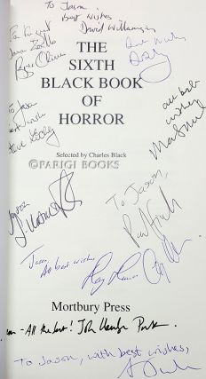 The Sixth Black Book of Horror. (Signed by Several Contributors).