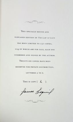 The Law of Love. (Signed Lettered Edition in Slipcase).