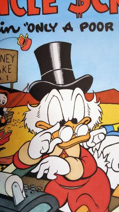 "Angelo La Rosa Four Color #386 Uncle Scrooge in ""Only a Poor Old Man"" Original Cover Art Recreation."