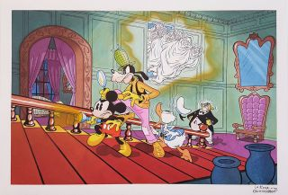 Angelo La Rosa Mickey Mouse in The Seven Ghosts Original Art Recreation.