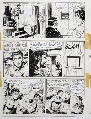 Gallieno Ferri Zagor #14 Page 33 Original Comic Art. Gallieno Ferri.