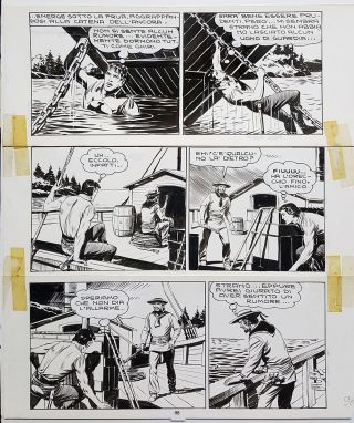Gallieno Ferri Zagor #14 Page 98 Original Comic Art. Gallieno Ferri.