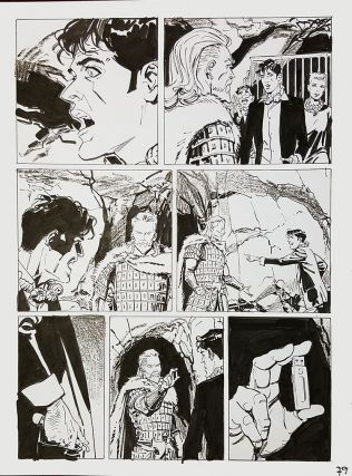 Bruno Brindisi Dampyr #209 Page 79 Original Comic Art. (Featuring Dylan Dog