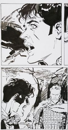 Bruno Brindisi Dampyr #209 Page 79 Original Comic Art. (Featuring Dylan Dog).