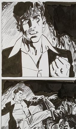 Bruno Brindisi Dampyr #209 Page 56 Original Comic Art. (Featuring Dylan Dog).