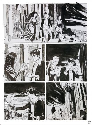 Bruno Brindisi Dampyr #209 Page 72 Original Comic Art. (Featuring Dylan Dog).