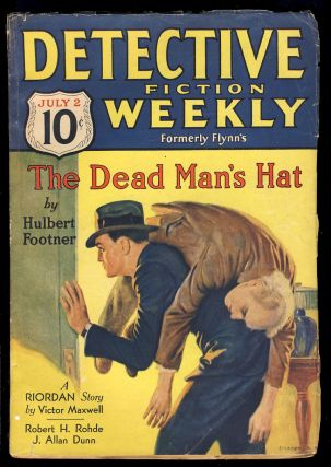 The Dead Man's Hat in Detective Fiction Weekly July 2, 1932. Hulbert Footner, William