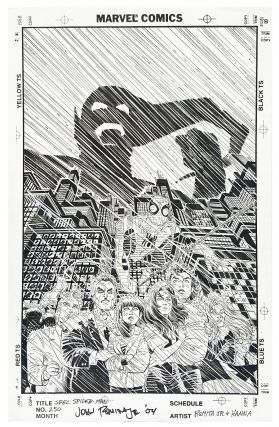 Spectacular Spider-Man #250 Original Gatefold Cover Art.