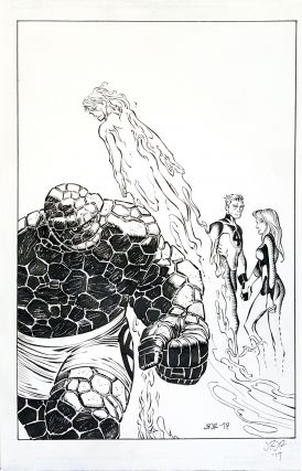 John Romita, Jr. Fantastic Four (2014) #3 Original Cover Art.