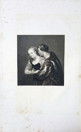 La contadina e il soldato. Etching from a Painting by Peter Paul Rubens.