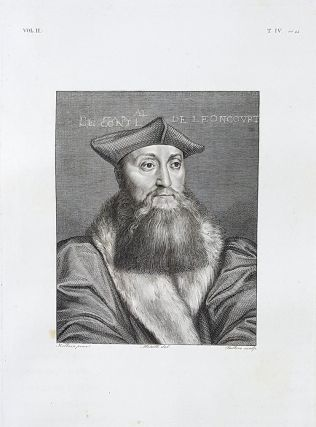 Il cardinale Roberto di Lenoncourt. Etching from a Painting by Hans Holbein. Giovanni Ballero,...