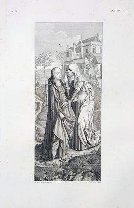 La visitazione di Maria Vergine a S. Elisabetta. Etching from a Painting by Heinrich Aldegrever....
